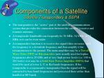 components of a satellite satellite transponders sspa