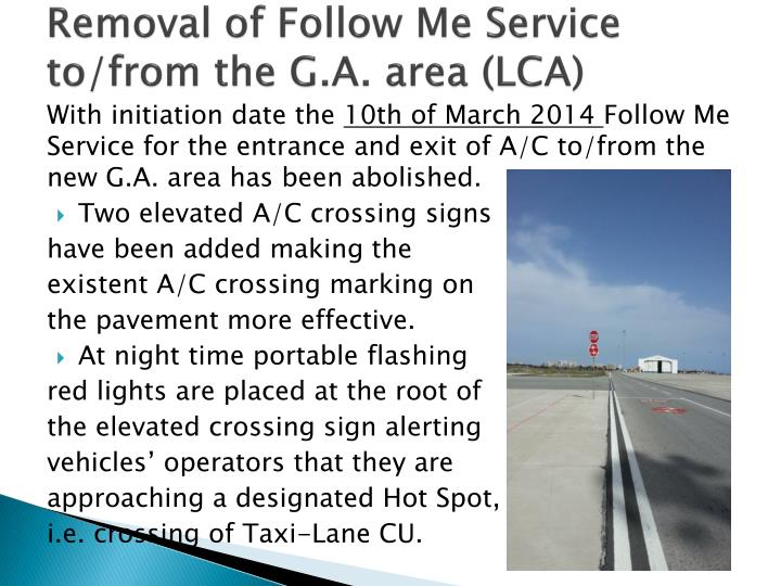 Removal of Follow Me Service