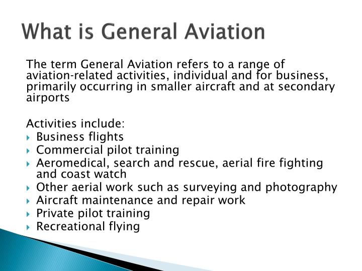 What is General Aviation
