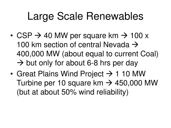 Large Scale Renewables