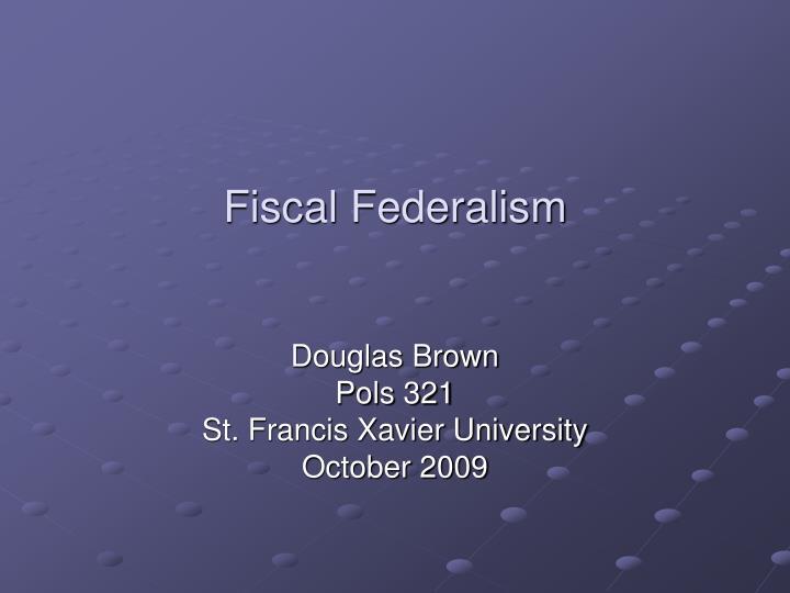 fiscal federalism n.