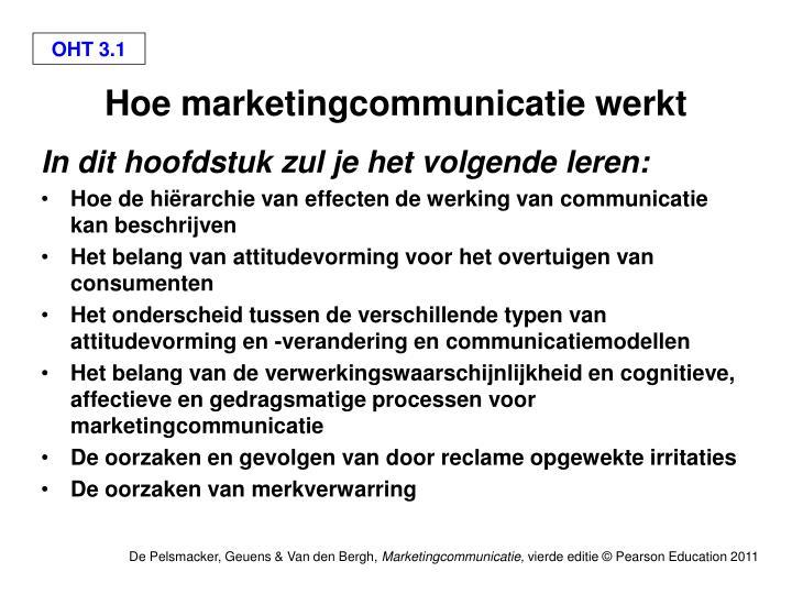 hoe marketingcommunicatie werkt n.