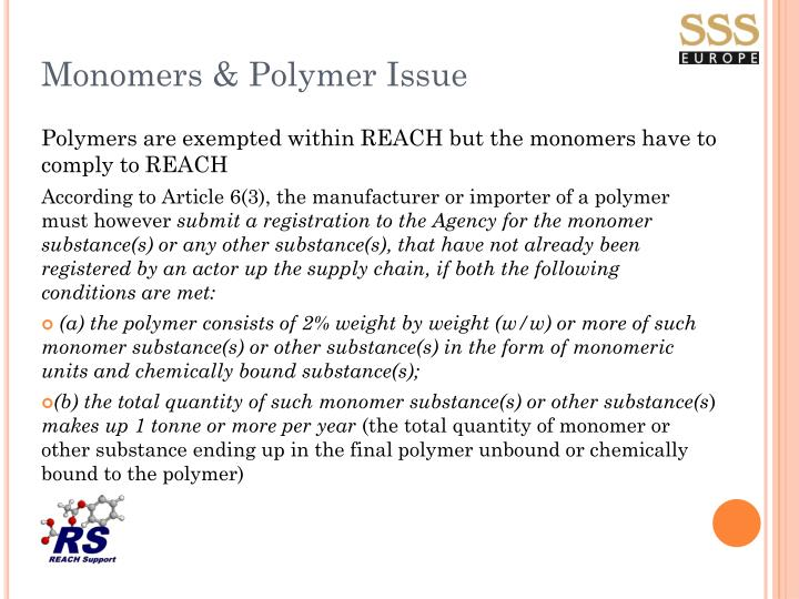 Monomers & Polymer Issue