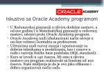 iskustvo sa oracle academy programom