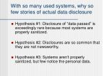 with so many used systems why so few stories of actual data disclosure