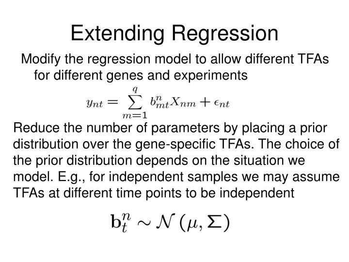 Extending Regression