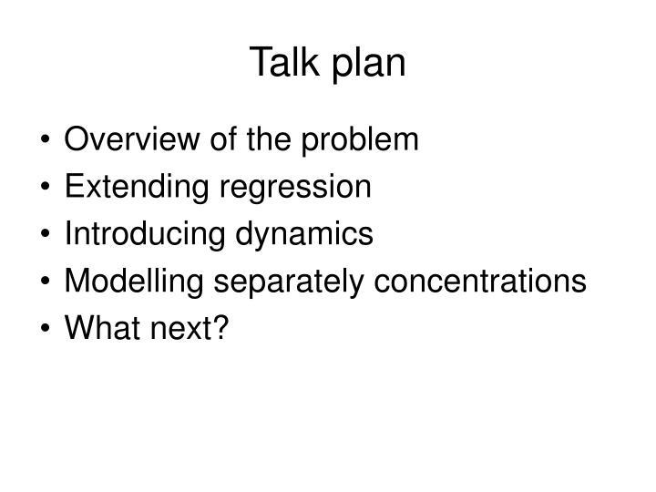 Talk plan