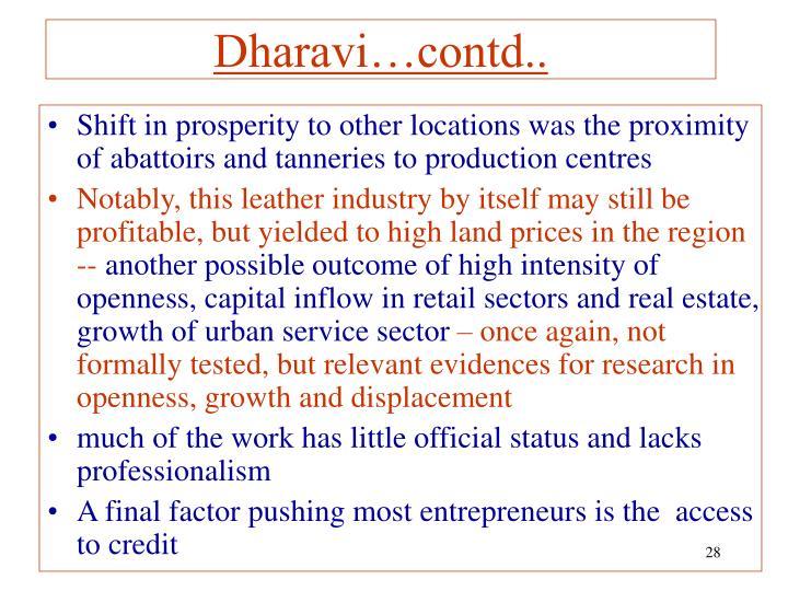 Dharavi…contd..