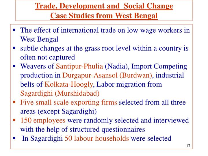 Trade, Development and  Social Change
