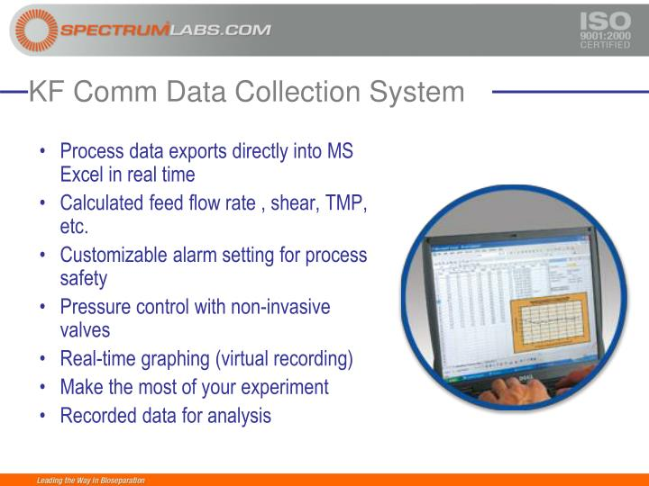 Process data exports directly into MS Excel in real time