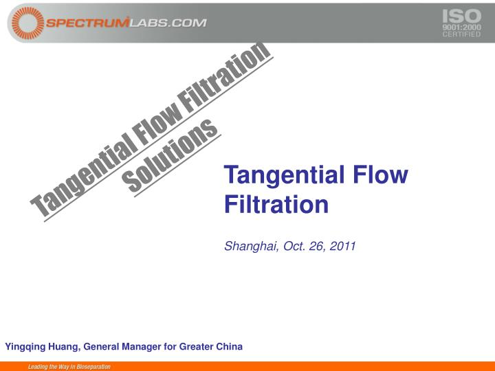 Tangential Flow Filtration Solutions