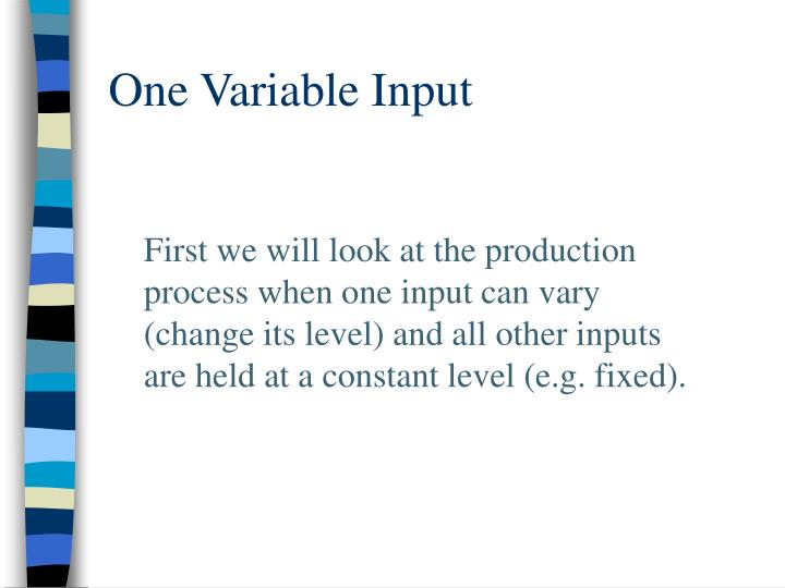 one variable input n.
