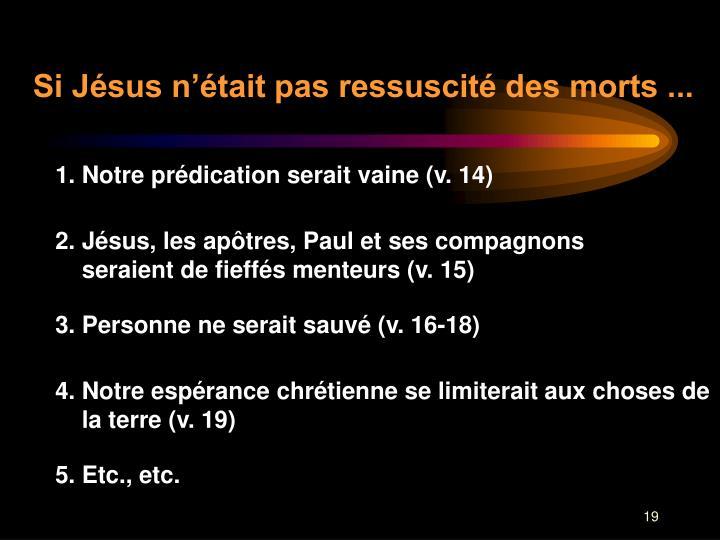 Si Jésus n'était pas ressuscité des morts ...