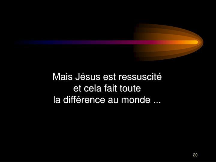 Mais Jésus est ressuscité