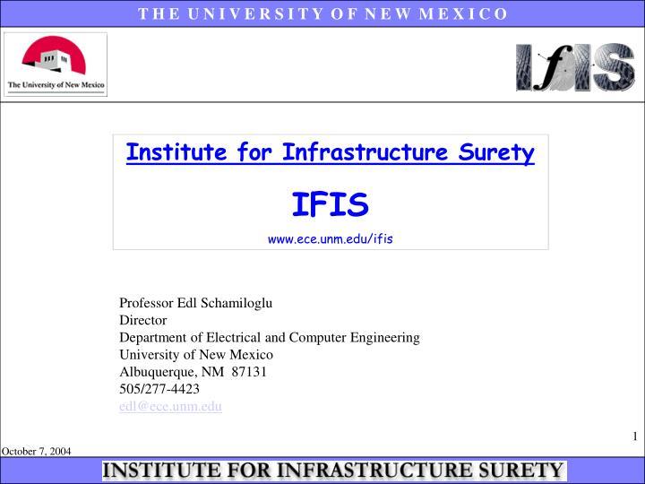 Institute for Infrastructure Surety