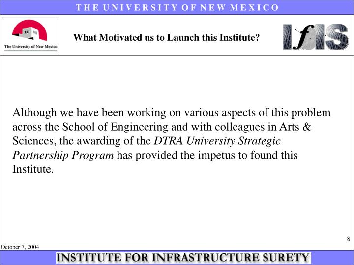 What Motivated us to Launch this Institute?