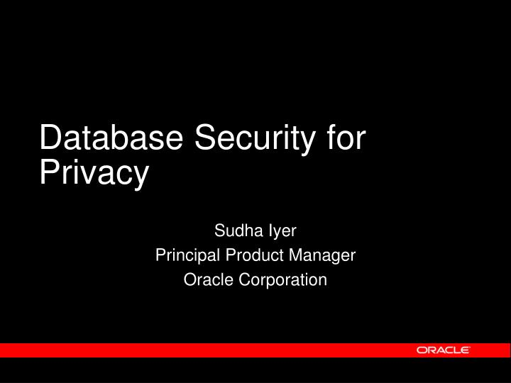 database security for privacy n.