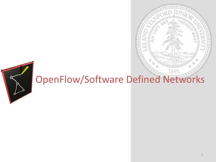 openflow software defined networks