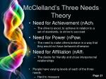mcclelland s three needs theory