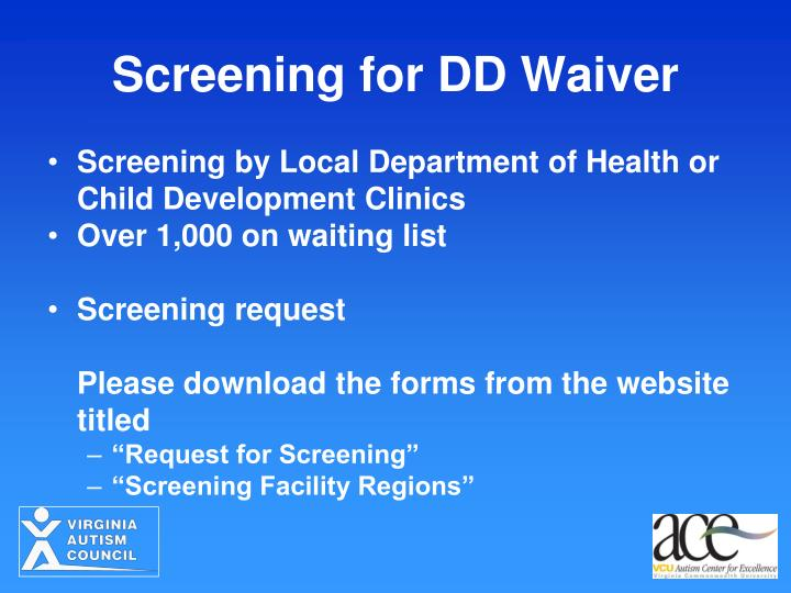 Screening for DD Waiver