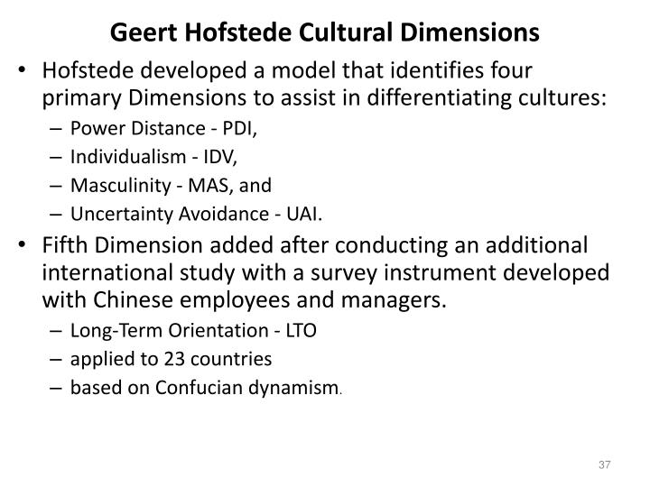 hofstede cultural dimensions in pakistan