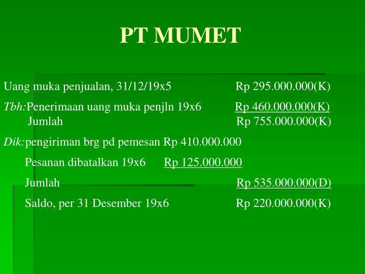 PT MUMET