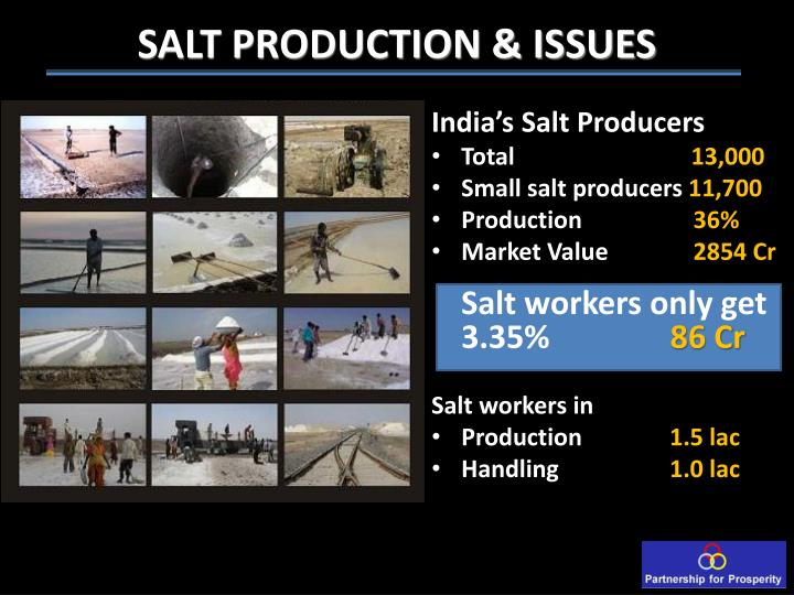 SALT PRODUCTION & ISSUES