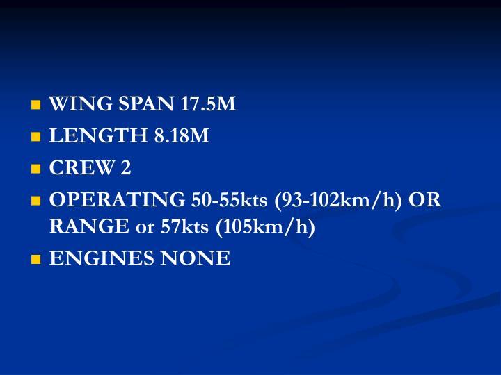 WING SPAN 17.5M