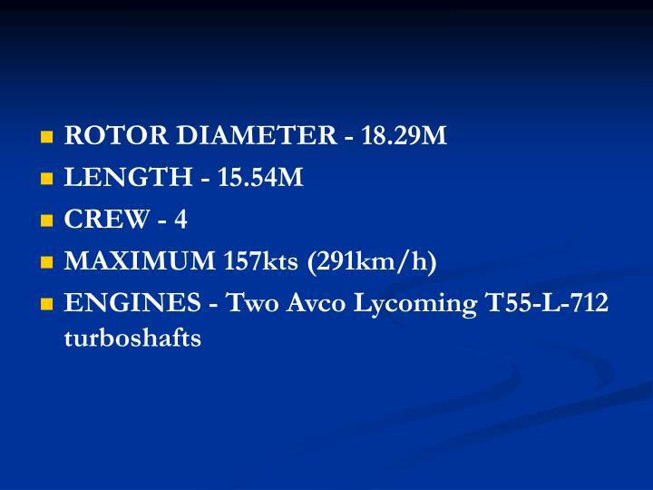 ROTOR DIAMETER - 18.29M