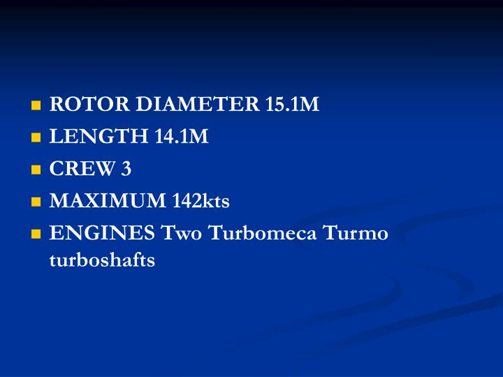 ROTOR DIAMETER 15.1M