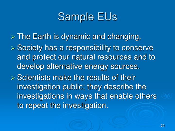Sample EUs