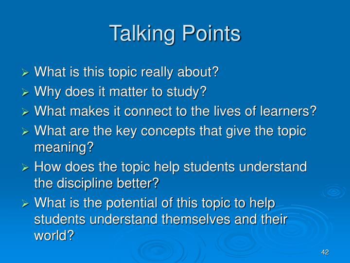 Talking Points