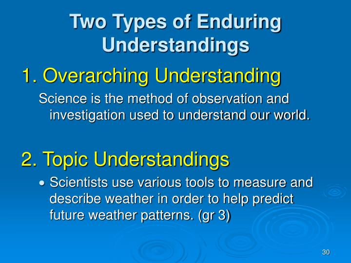 Two Types of Enduring Understandings