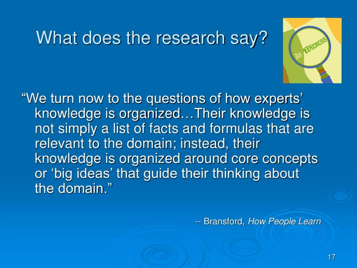 What does the research say?