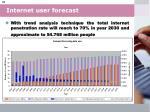 internet user forecast