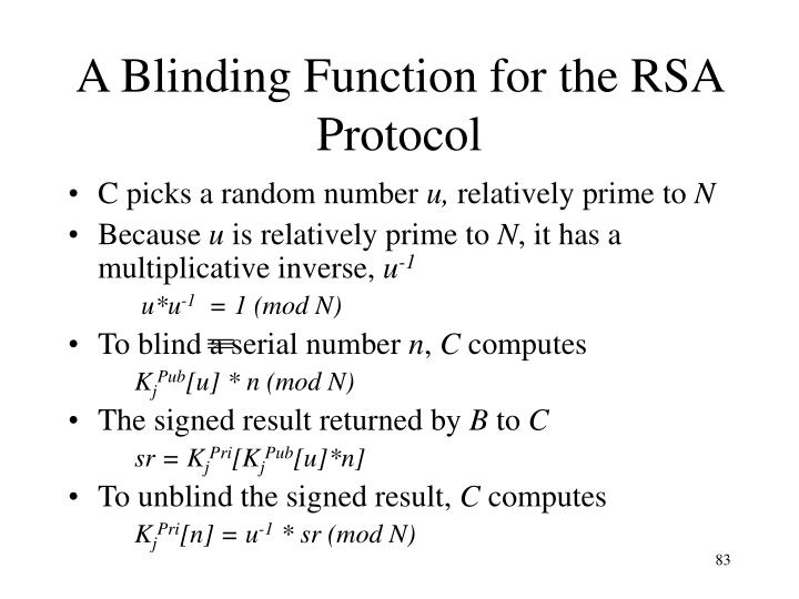 A Blinding Function for the RSA Protocol