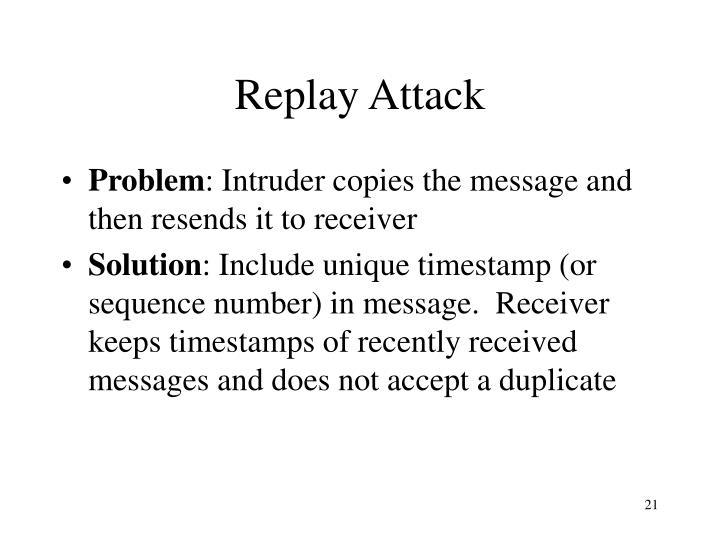 Replay Attack