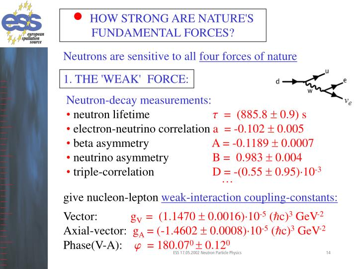 HOW STRONG ARE NATURE'S FUNDAMENTAL FORCES?