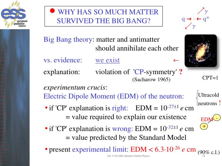 WHY HAS SO MUCH MATTER SURVIVED THE BIG BANG?