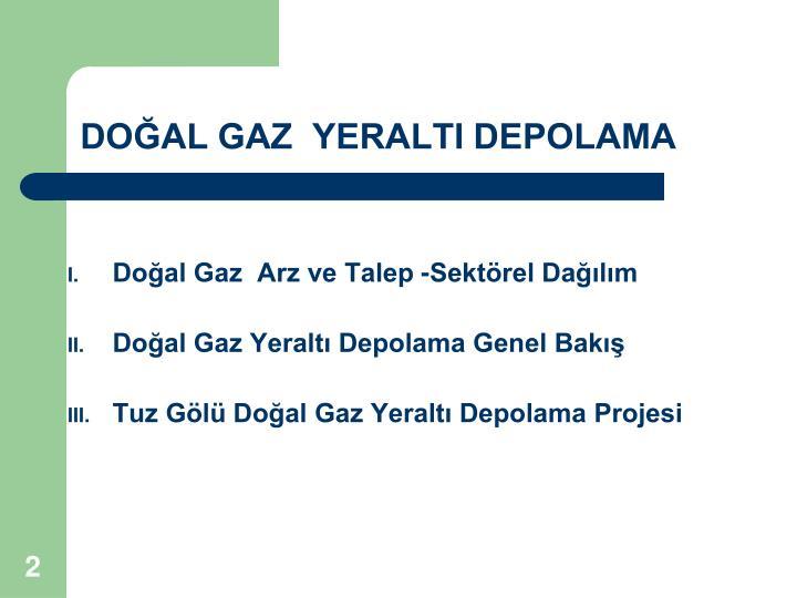 Do al gaz yeralti depolama
