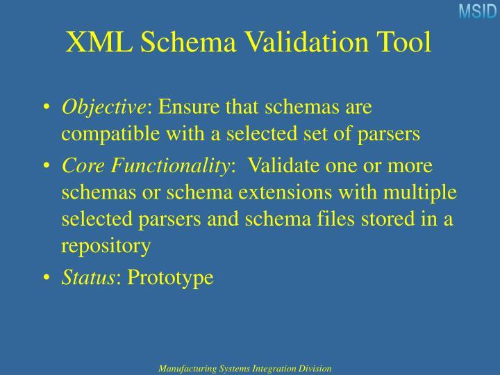 XML Schema Validation Tool