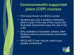 commonwealth supported place csp courses