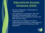 educational access schemes eas1
