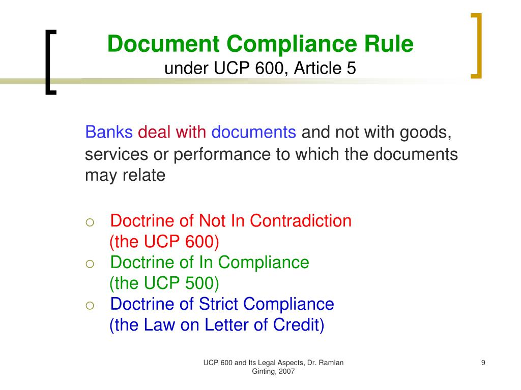 Ppt Ucp 600 And Its Legal Aspects Powerpoint Presentation Free Download Id 3386398
