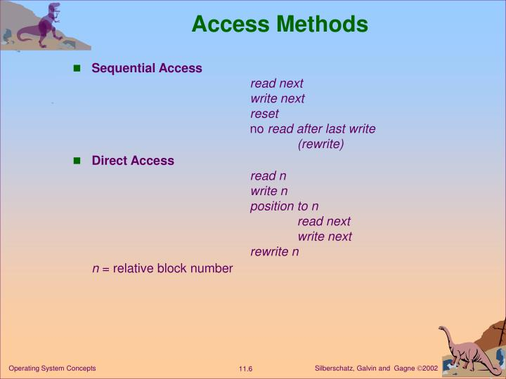 Access Methods