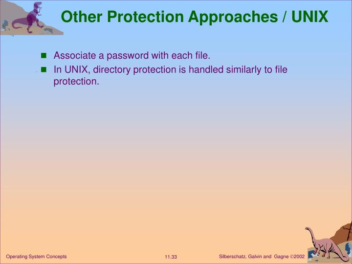 Other Protection Approaches / UNIX