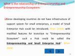 what is the relationship of entrepreneurship and entrepreneurship ecosystem