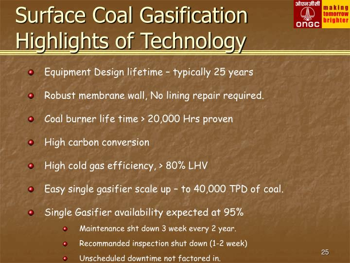 Surface Coal Gasification