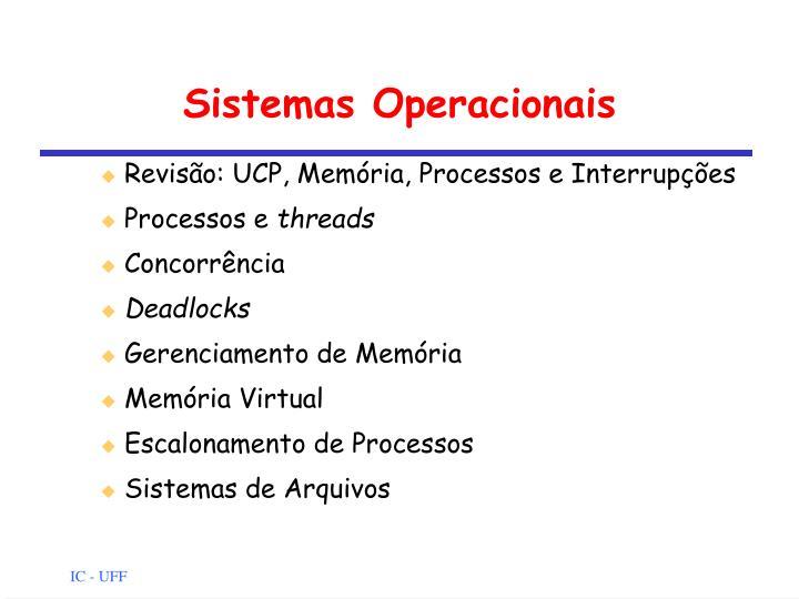 sistemas operacionais n.