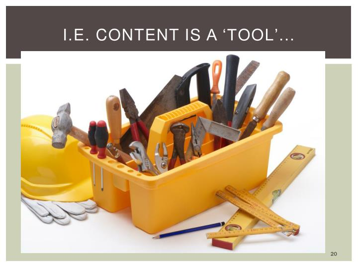 i.e. Content is